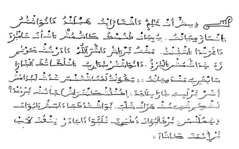 Texte en Aljamia du XVIème siècle