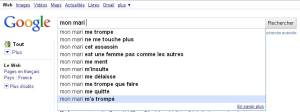 google suggest: mon mari